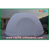 Strong Oxford Cloth Inflatable White Air Tent , Commercial Inflatable Roundness Tent