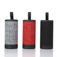 China Wireless Best Fabric Cover Bluetooth Speaker Waterproof Portable Mini Column Box Loudspeaker For Sale on sale
