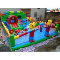 Durable Inflatable Amusement Park With Waterproof 0.55mm PVC Tarpaulin For Home