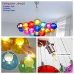 Festival Bar Restaurant Cafe colorful glass LED home decorate lamp customized ceiling light chandelier TH101