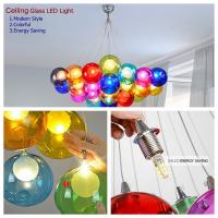 China Festival Bar Restaurant Cafe colorful glass LED home decorate lamp customized ceiling light chandelier TH101 on sale
