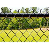 China Durable Black Chain Link Fence Privacy Fabric Hot Dipped Galvanized Mesh Fence on sale