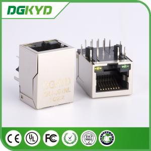 Side Entry Shield 1X1 Tab-Down RJ45 Single port / Internal Magnetic Module,Useage HR911102A
