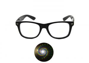 China Spiral Ultimate 3D Diffraction Glasses Clear Rave Prism Grating Glasses Rainbow Firework Spirals on sale