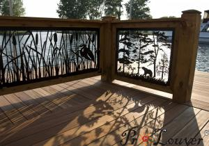 China 2017 Modern designed CNC Laser cutting decorative panel in outdoor river on sale