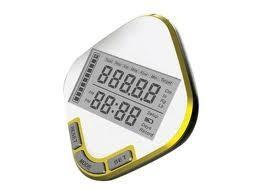 China Digital accurate Measures Horizontally,Vertically pocket step counter pedometer with Clock on sale