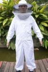 High Quality Cotton and Terylene Beekeeping Protective Clothing with Round Bee Hat