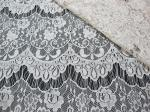 Thin hollow nylon eyelash French lace scalloped lace fabric for lady garment(CY-DN0002)