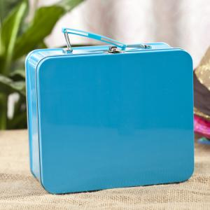 China Rectangular Lunch Box Tinplate Metal Storage Packaging PMS offset printing on sale