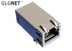 China Single Port 10G RJ45 Connector Through Hole With Magnetic Latch Up on sale