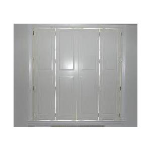 Quality Solid Panel Interior Window Shutters Basswood , Ventilation Louvers  For Sale ...