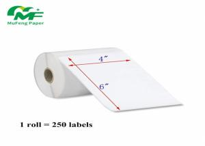 China SGS Self Adhesive Paper Roll Thermal Printer Private Label 4x6 Inch For Zebra / Eltron on sale