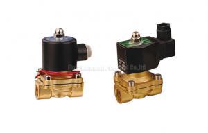 China 16~50mm Orifice 2/2 Brass Pneumatic Solenoid Valve G1/2~G2 With Viton Seal on sale