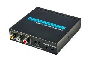 China HDMI to CVBS Converter Auto Scaler Compatible HDMI 1.3 HDCP Protocol on sale