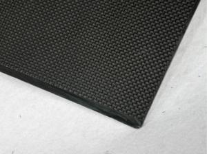 China 100mm * 200 mm plain 2mm carbon fiber sheet , twill ultra carbon fiber board on sale