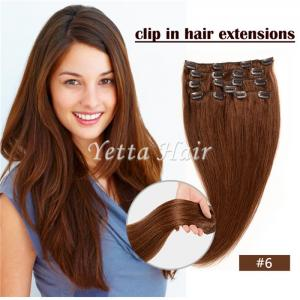 China Simplicity Pre Bonded Keratin Hair Extensions / Clip In Hair Weave Color 6# on sale
