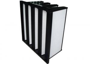 China Light Weight 4V Rigid V Bank Filter Dust?, F5 / F6 Efficiency Air Condition Filter on sale