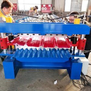 China Double Layer Corrugated Sheet Roll Forming Machine With Hydraulic Station on sale