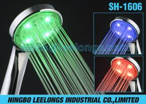 China Color Changing Temperature Controlled LED Shower Head Rain Water Saving For Bathtub on sale