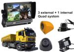 China Lorry 4 Security Camera Car DVR AHD 3G GPS WIFI Quad Monitor System wholesale