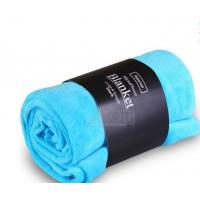 China Blue / Pink Colorful Coral Custom Fleece Blankets , Polyester Soft Kids Fleece Blanket on sale