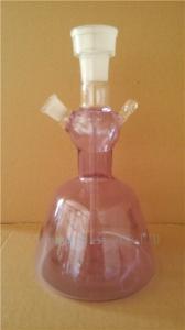 China glass shisha, glass nargile, smoking bottle of hookah with leather box hookah pipe on sale