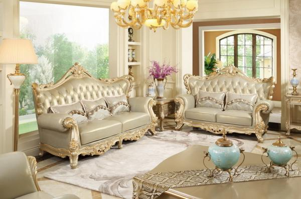 Luxury Classic French Design Of Living Room Sofa Sets 1+2+3 Used Beech Wood  Fame Images