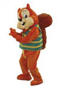China Squirrel plush animal costumes company mascot costumes on sale