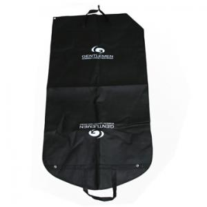 China Customized Mens Black Non Woven Suit Cover Carrier Bags for Travelling on sale