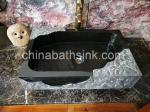 black granite rectangle bathroom sink wash basin vessel sink