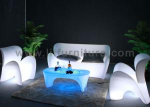China Two Seats Rechargeable LED Light Sofa PE Housing And Color Changeable Lighting on sale