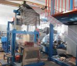 High Speed Pvc Blown Film Machine With Wind Ring Spinning 9.5KW Heating Power