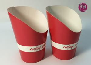 China 9oz Height 120mm French Fries Cup , Double PE Coated Hot Chip Cup on sale