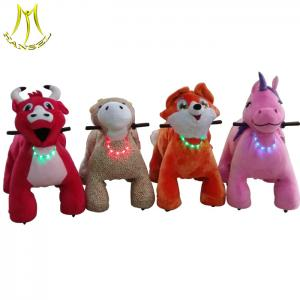 China Hansel  kids' amusement park kids and adults plush animal horse electric scooter on sale