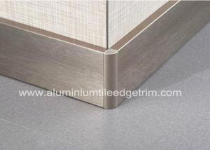 China Titanium Gold Aluminium Skirting Boards Perth / Bunnings For Wall Edge Protection on sale