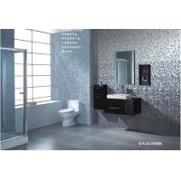 Crystal Glass Mosaic Glazed Ceramic Floor Tile Combined By Stone,Metal