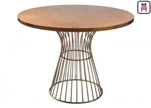 China Commercial Metal Table Bases For Wood Tops , Round Dining Table Metal Base on sale