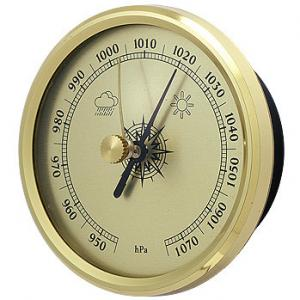 China Vintage Brass Indoor Outdoor Thermometer Hygrometer For Garden Greenhouse on sale