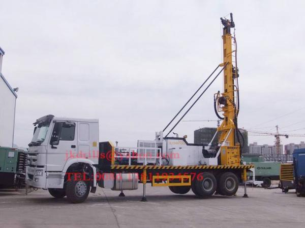 Sinotruk Truck Mounted Water Well Drilling Rig , Cummins