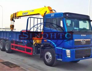 China 20 Tons 6x4 / 30 Tons 8x4 Cargo Transport Truck Heavy Duty Truck Mounted Crane on sale