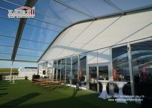 China Sandwich Wall Clear Span Tents Transparent PVC Roof Cover Outside on sale