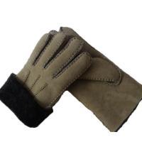 Spanish Merino Sheepskin Double Face Leather Winter Gloves Hand Sewn Men Gloves