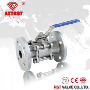 China A válvula de aço inoxidável da bola 3PC do RUÍDO flangeou o tipo PN16 PN40 da bola de flutuação do RF on sale