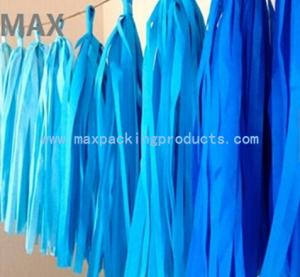 China Party decorations DIY colorful tissue paper tassel garland wholesales in good quality on sale