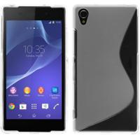 Dust-proof TPU Phone Case Black , S Line Xperia Z2 TPU Back Case