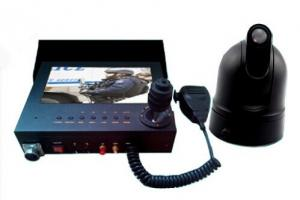 China All In One  Police Car Vehicle Security Camera System Mobile DVR With Monitor Control Keyboard supplier