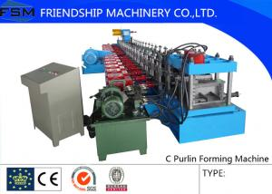 China Hot Rolled Coils c Purlin Roll Form Machines Gcr15 Quenched Roller on sale