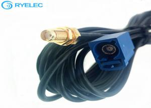 China Fakra To SMA Precision Cable Assemblies , 50ohm GPS Cable Harness Assembly on sale