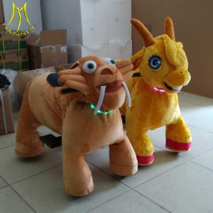 China Hansel  entertainment ride on for adults electric bicycle plush ride on animals plush zippy animal toy car on sale