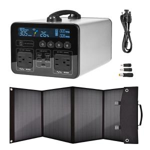 China Camping Home Emergency Backup 1200W Portable Solar Power Kits on sale